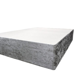 Crushed velvet silver divan double bed
