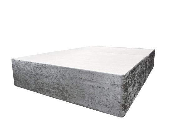 Crushed velvet silver divan double bed