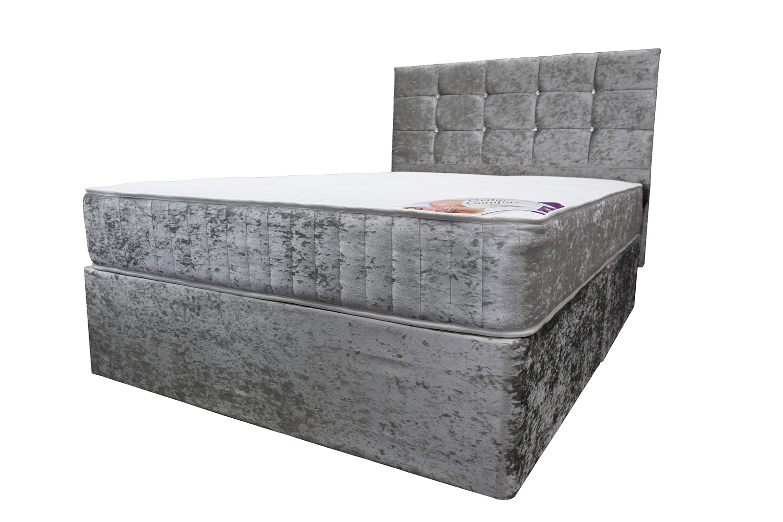 cheap for discount a5441 fbb46 Crushed Velvet Divan Beds