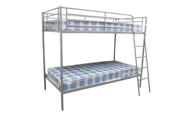 Metal Bunk beds with ladder and two budget mattresses