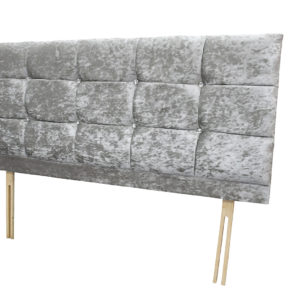 Headboard in silver velvet colour