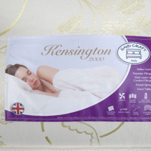 Serenity Comfort Arley double mattress, showing label