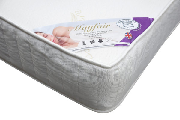Handcraft Beds Mayfair double mattress, showing the corner