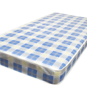 Budget single mattress, showing the full size