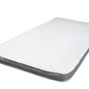 Single size topper mattress, showing the full size