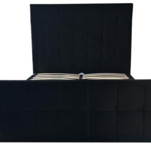 Crushed Velvet Brooke Bed in Black - front view