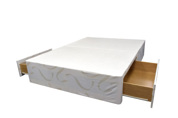 Divan bed base Aspire double with drawers open