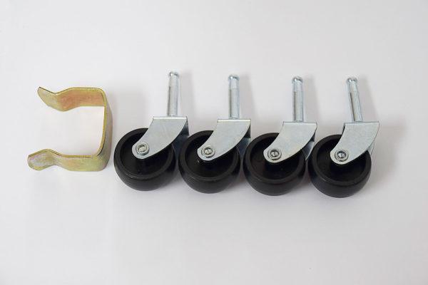 Divan bed wheels and base clip