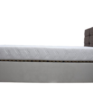 Electric single bed with mattress not elevated - side view
