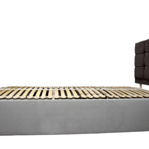 Electric single bed, showing without the mattress flat - side view