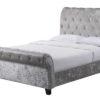Crushed Velvet Celine Bed in Silver