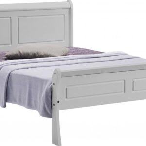 Georgia 4ft 6 sleigh bed available in grey and white
