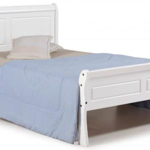 Georgia sleigh bed available in white, King Size