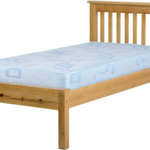 Monaco 3ft single bed with low foot end in Antique Pine