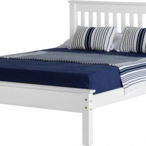 Monaco 5ft bed with low foot end available in white, King Size