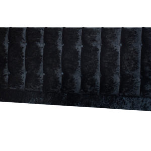 Crushed Velvet double headboard in black