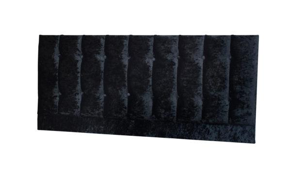 Crushed Velvet double headboard in black