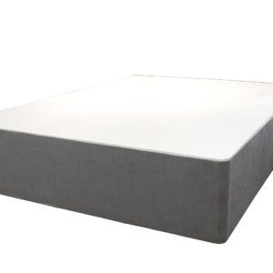 Divan double bed in light grey