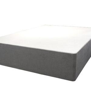 Divan double bed in light grey