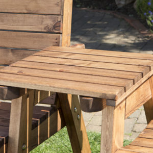 Garden furniture solid wooden detachable straight tray