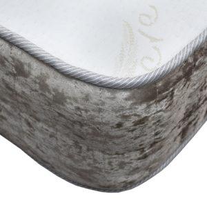 Kensington Heritage Memory Foam Luxury single mattress, showing the corner
