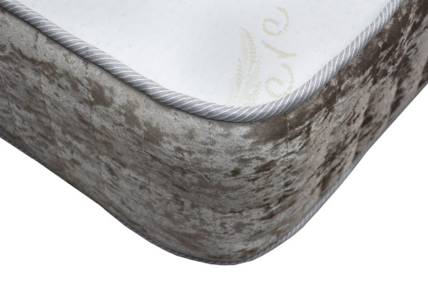 Kensington Heritage Memory Foam Luxury single mattress, showing the corner
