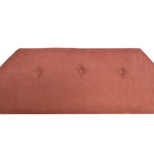 Single bed terracotta headboard
