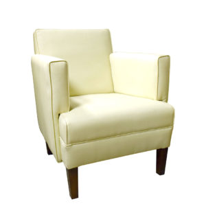Chair cream colour showing the front profile