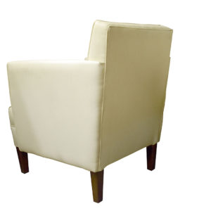 Chair cream colour showing the rear profile