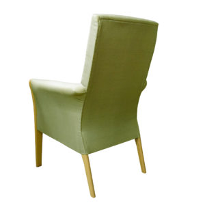 Chair in light green plain front - reverse