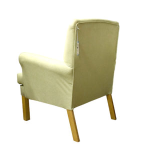 Chair light green colour showing the rear profile
