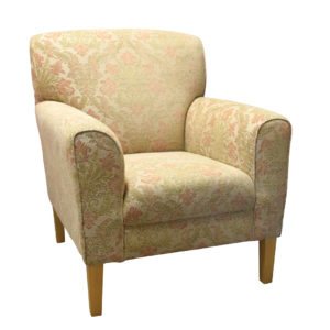 Chair patterned fabric showing the front profile