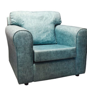 Chair teal colour showing the front profile