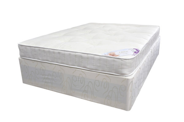 Divan double bed set includes: divan base and Chloe double mattress