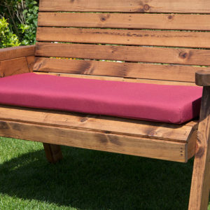 3 seater waterproof cushion seat in burgundy