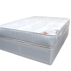 Satin Queen set with divan base and matching double mattress