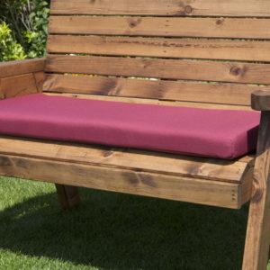 2 seater waterproof cushion seat in burgundy