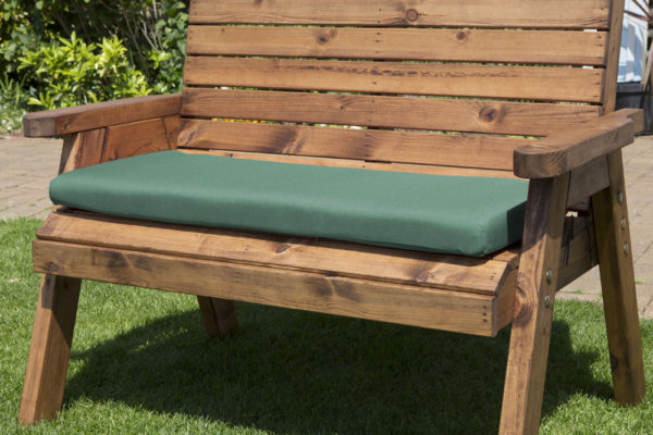 2 seater waterproof cushion seat in green