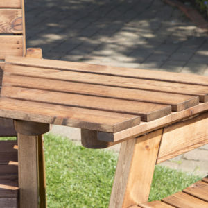 Garden furniture solid wooden detachable angle tray