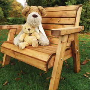 Kids garden furniture solid wooden bench
