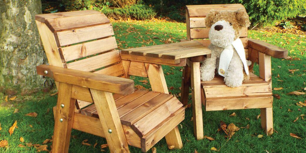 Kids Garden Furniture Twin Companion Set Angle