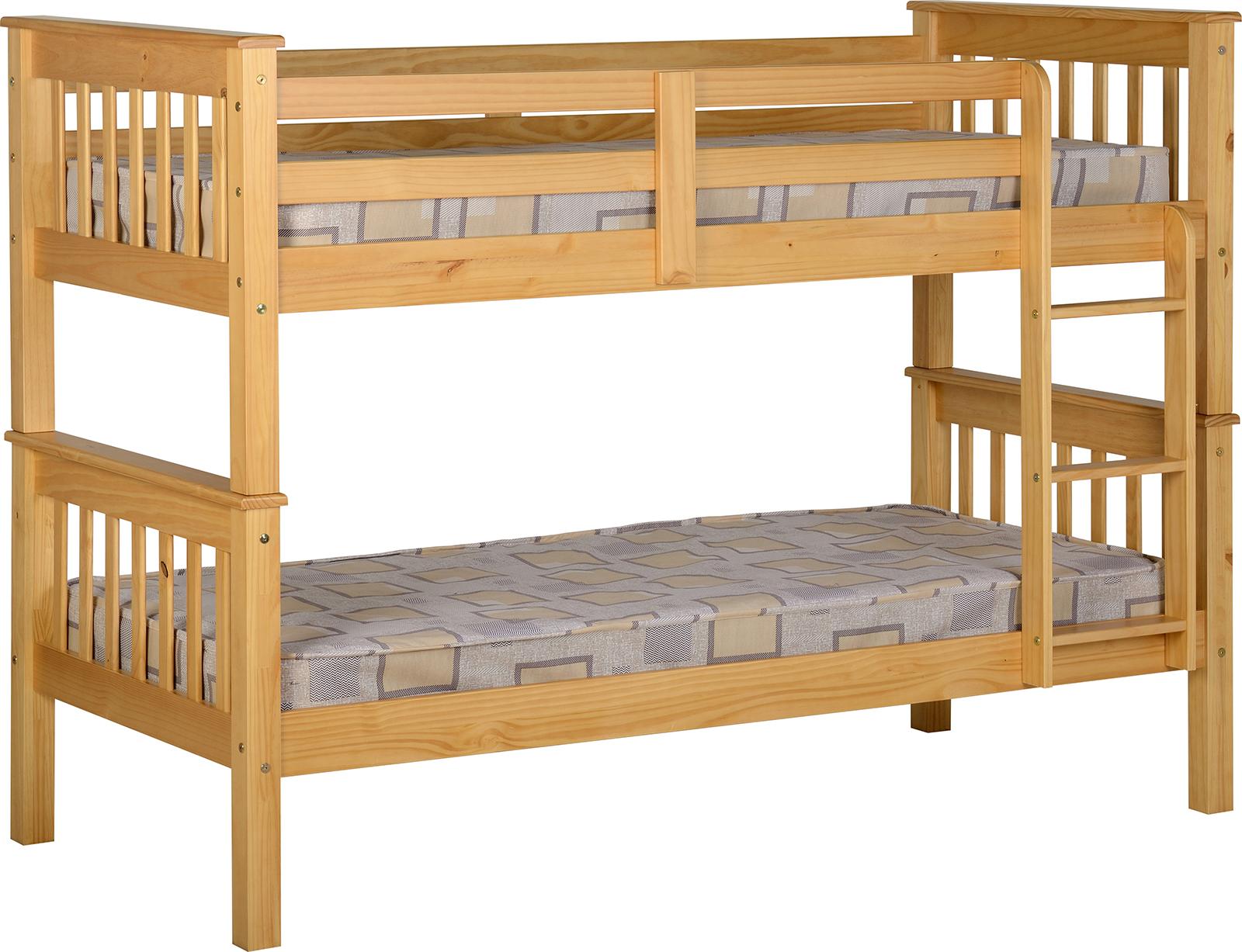 Neptune 3ft Bunk Bed Oak Factory Bedrooms