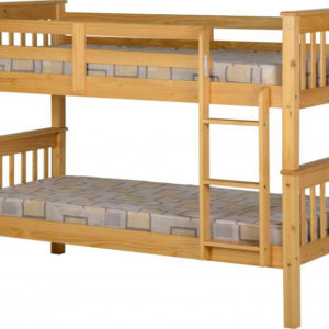 Neptune 3ft bunk bed in oak effect, can be separated into 2 beds