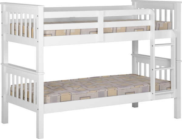 Neptune 3ft bunk bed in white, can be separated into 2 beds