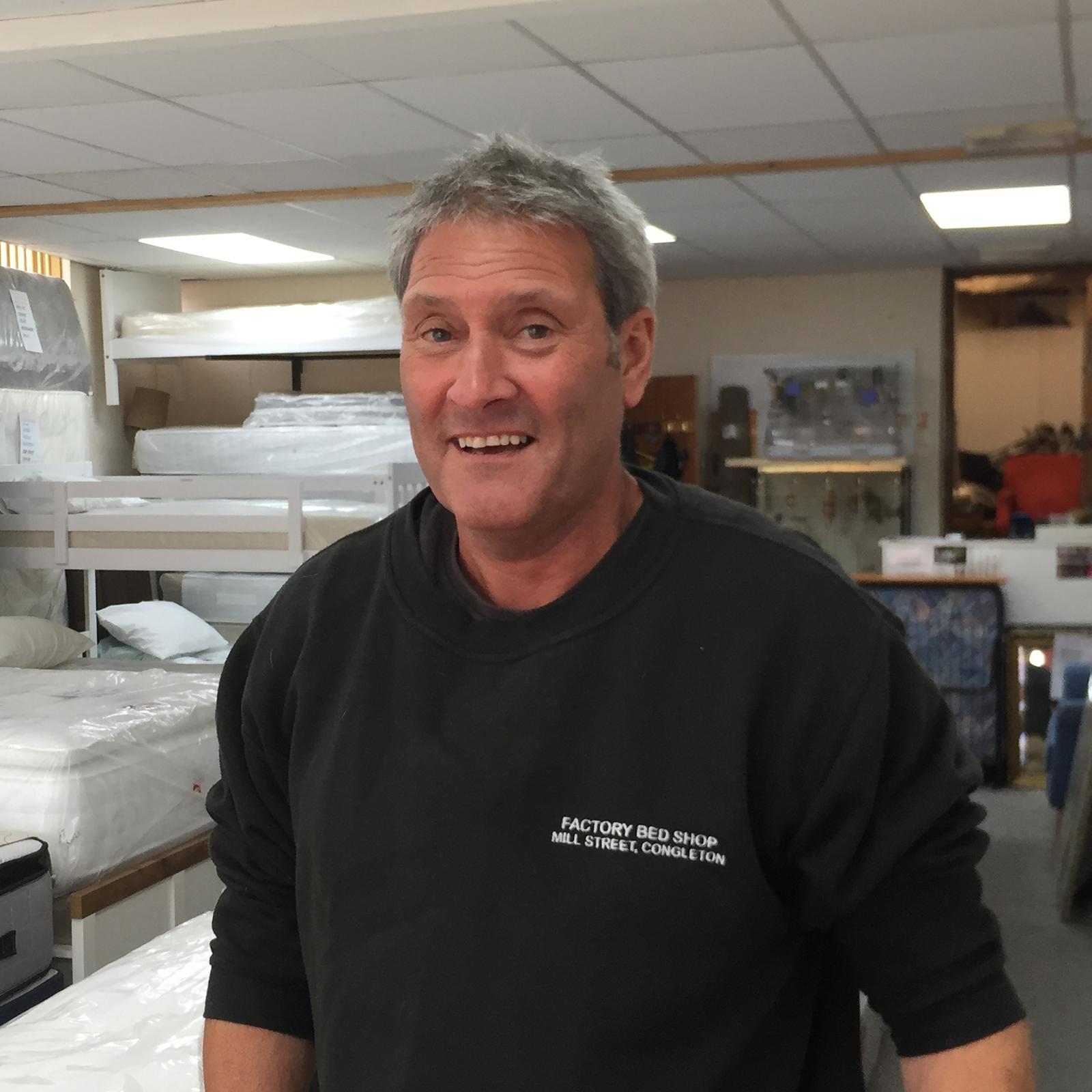 Nigel Hayes, sales man at Factory Bedrooms