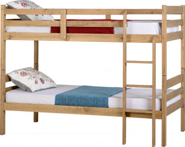 Panama 3ft bunk bed in natural wax, can be separated into 2 beds