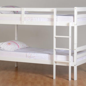 Panama 3ft bunk bed in white, can be separated into 2 beds