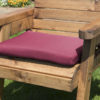 Single waterproof cushion seat in burgundy