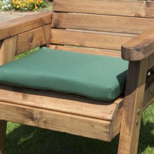 Single waterproof cushion seat in green